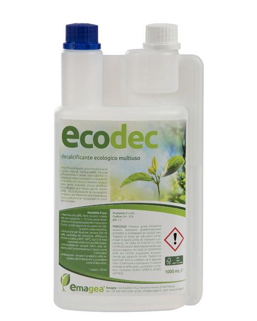 Decalcificante naturale a base di acido citrico e lattico ecodec