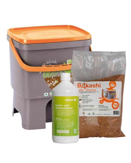 attivatore bokashi e ema con compostiera