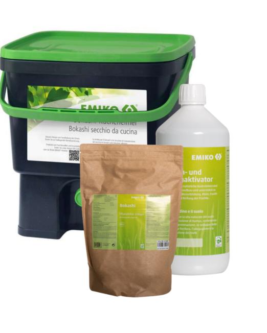 compostiera per cucina e attivatore e bokashi